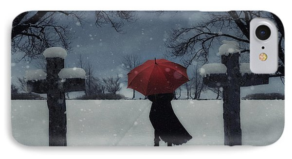 Alone In The Snow Phone Case by Joana Kruse