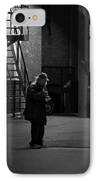 Alone In The Streets Phone Case by Karol Livote