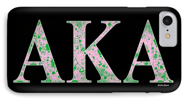 Alpha Kappa Alpha - Black IPhone Case by Stephen Younts