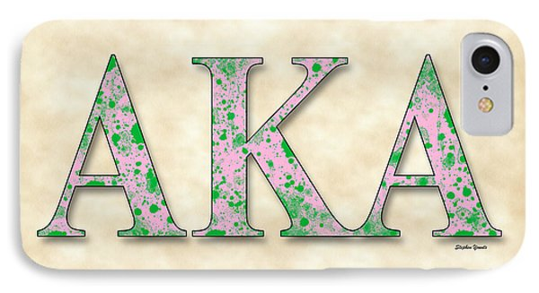 Alpha Kappa Alpha - Parchment IPhone Case by Stephen Younts