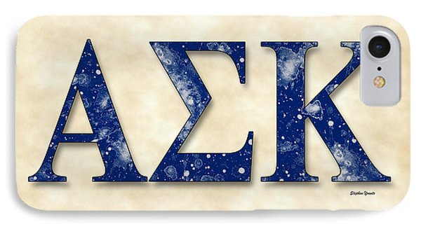 Alpha Sigma Kappa - Parchment IPhone Case by Stephen Younts