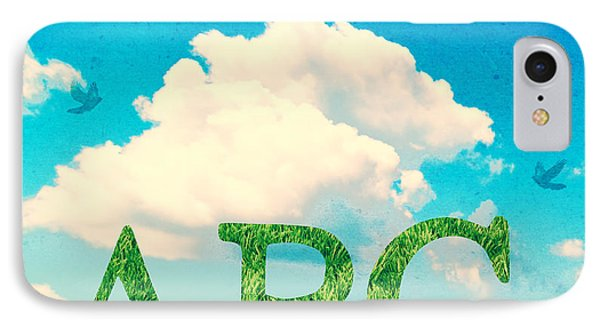 Alphabet Letters In Grass IPhone Case by Amanda Elwell