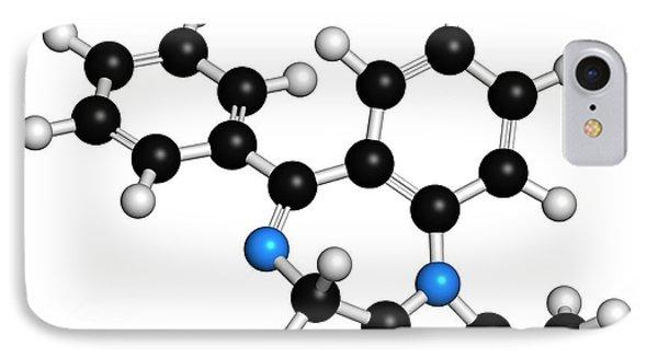 Alprazolam Drug Molecule IPhone Case by Molekuul