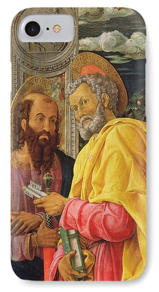 Altarpiece From San Zeno Maggiore, Verona, Detail Of The Left Hand Panel Showing Saint Peter IPhone Case by Andrea Mantegna