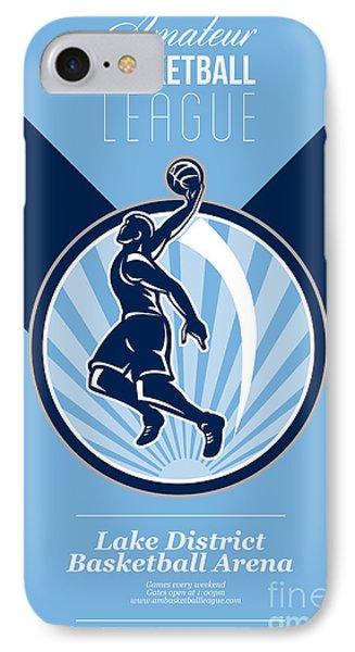 Amateur Basketball League Retro Poster Phone Case by Aloysius Patrimonio