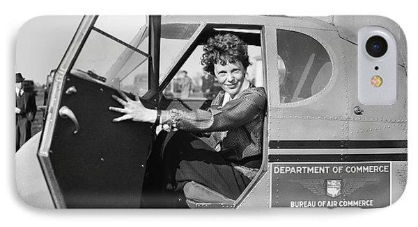 Amelia Earhart - 1936 IPhone 7 Case by Daniel Hagerman