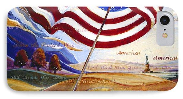 America IPhone Case by Jen Norton