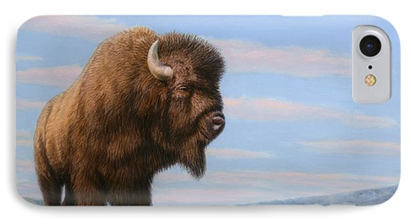American Bison IPhone Case by James W Johnson