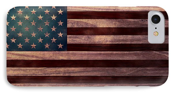 American Flag I IPhone Case by April Moen