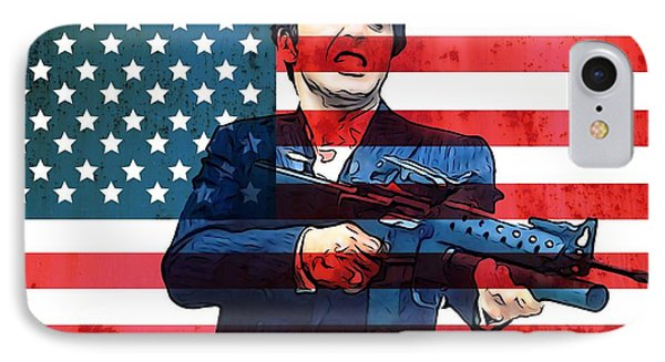 American Gangster Tony Montana IPhone Case by Dan Sproul