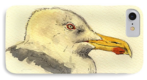 American Herring Gull IPhone Case by Juan  Bosco