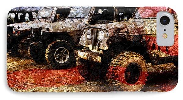 American Jeeps IPhone Case by Luke Moore