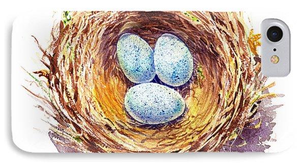 American Robin Nest IPhone 7 Case by Irina Sztukowski