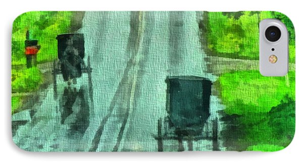 Amish Buggy Traffic IPhone Case by Dan Sproul