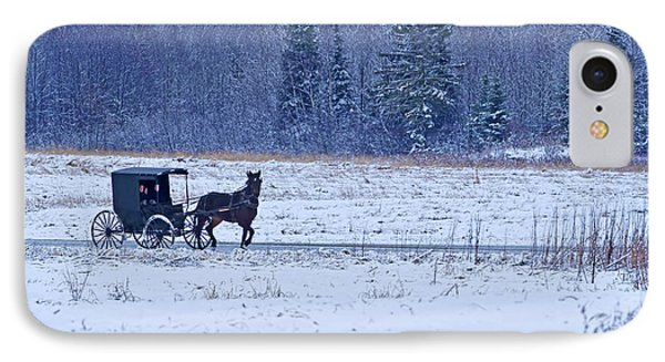 Amish Carriage IPhone Case by Jack Zievis