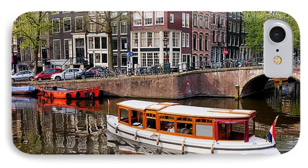 Amsterdam Canal And Houses Phone Case by Artur Bogacki