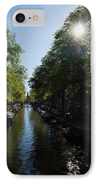 Amsterdam Spring - Green Sunny And Beautiful IPhone Case by Georgia Mizuleva