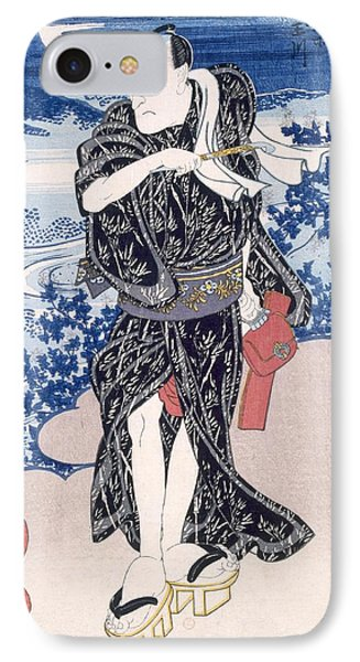 An Actor IPhone Case by Utagawa Kunisada