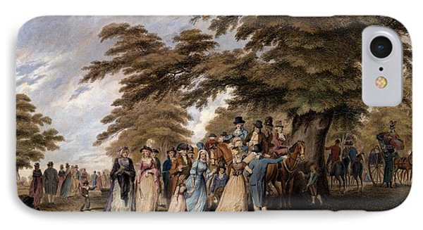 An Airing In Hyde Park, 1796 IPhone 7 Case by Edward Days