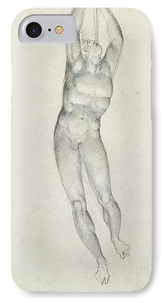 An Angel With A Trumpet IPhone Case by William Blake