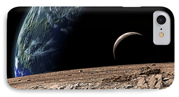 An Earth-like Planet In Deep Space IPhone Case by Marc Ward