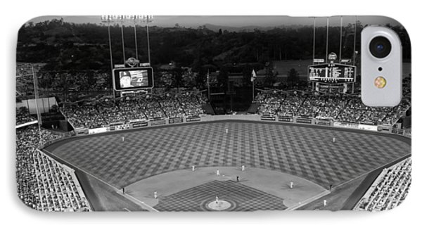 An Evening Game At Dodger Stadium IPhone Case by Mountain Dreams