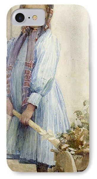 An Italian Peasant Girl IPhone Case by Ada M Shrimpton