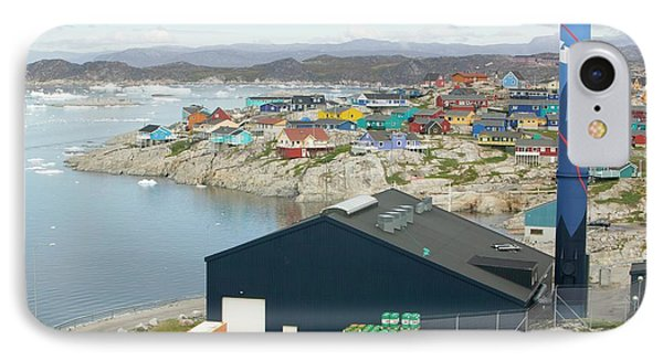 An Oil Fired Power Plant In Ilulissat IPhone Case by Ashley Cooper