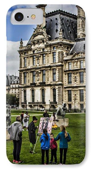 An Oil Painter In A Park In Paris Phone Case by Sven Brogren