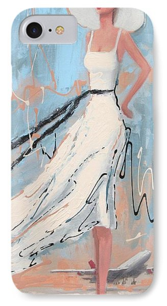 And She's Off IPhone Case by Thalia Kahl