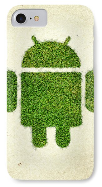 Andoird Grass Logo IPhone Case by Aged Pixel