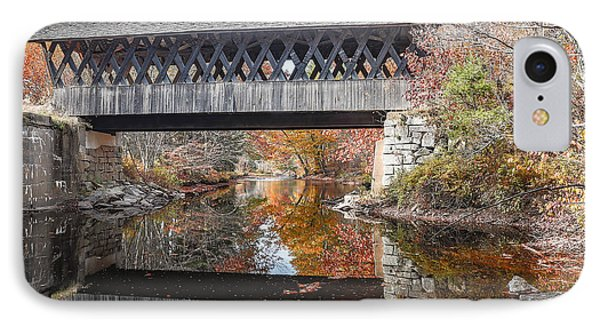 Andover Covered Bridge IPhone Case by Edward Fielding