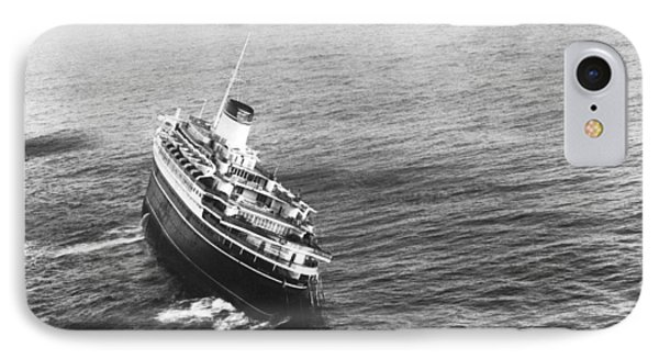 Andrea Doria Before Sinking IPhone Case by Underwood Archives