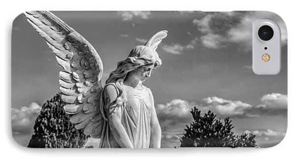 Angel At The Heredia General Cemetery Phone Case by Andres Leon