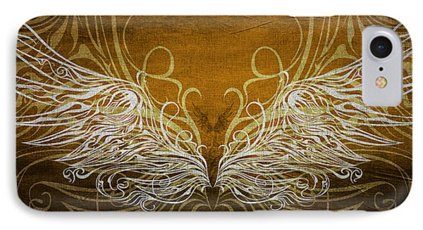 Angel Wings Gold Phone Case by Angelina Vick