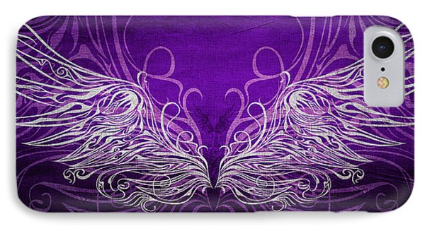 Angel Wings Royal IPhone Case by Angelina Vick