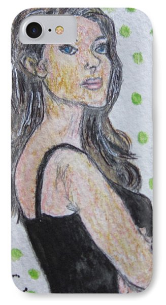 Angelina Jolie Phone Case by Kathy Marrs Chandler