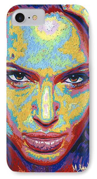 Angelina IPhone Case by Maria Arango