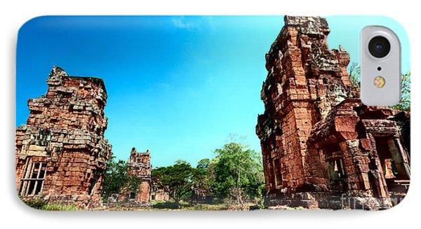 Angkor Wat Ruins IPhone Case by Julian Cook