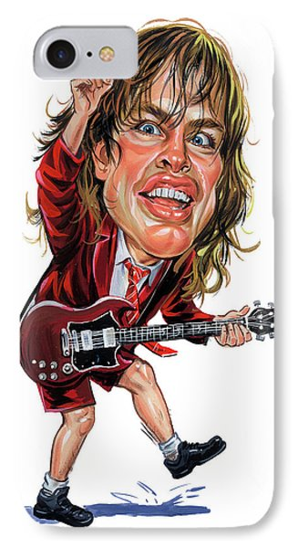 Angus Young IPhone Case by Art