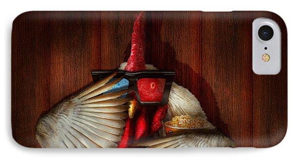 Animal - Chicken - Movie Night  Phone Case by Mike Savad