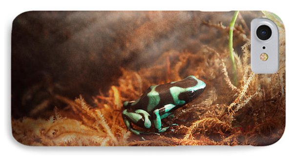 Animal - Frog - Lick The Green Frog Phone Case by Mike Savad