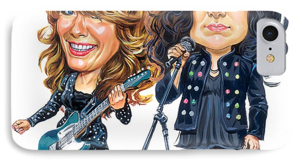 Ann And Nancy Wilson Of Heart IPhone Case by Art