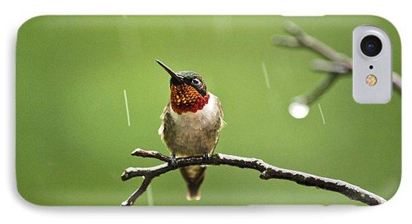 Another Rainy Day Hummingbird Phone Case by Christina Rollo