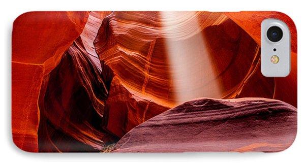Antelope Canyon Beam IPhone Case by Az Jackson