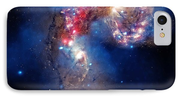 Antennae Galaxies Collide 2 Phone Case by Jennifer Rondinelli Reilly - Fine Art Photography