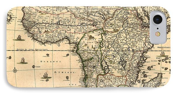 Antique Africa Map Phone Case by Gary Grayson