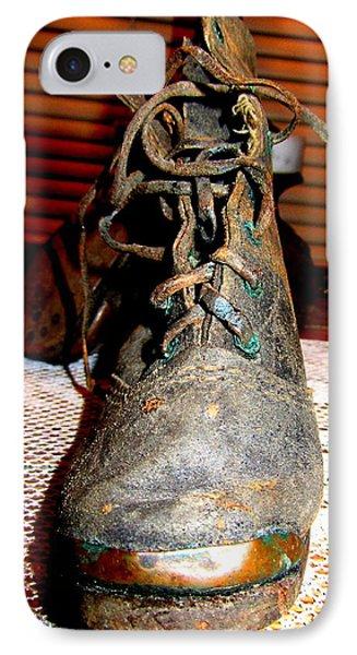 Antique Boots Phone Case by Danielle  Parent