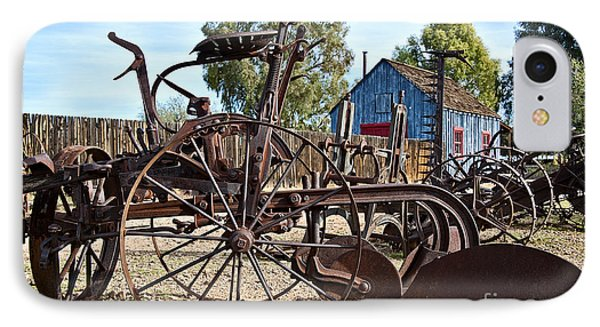 Antique Farm Equipment End Of Row Phone Case by Lee Craig