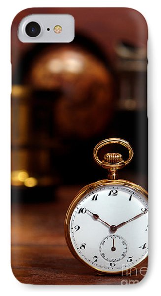 Antique Pocket Watch IPhone Case by Olivier Le Queinec